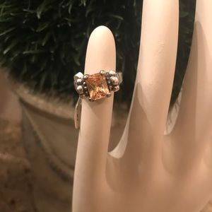 Citrine 925 Ring Silver NWT Size 7